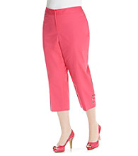 Rafaella® Plus Size Double Weave Capri
