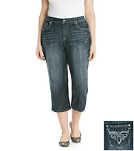 Earl Jeans® Plus Size Embellished Pocket Denim Capris