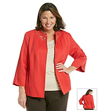 Alfred Dunner® Plus Size Embellished Open Front Jacket
