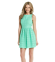 Kensie® Embroidered Eyelet Dress