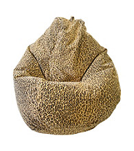Gold Medal Large Tear Drop Bobcat Safari Micro-Fiber Suede Bean Bag