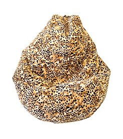 Gold Medal Large Tear Drop Kit Kat Safari Micro-Fiber Suede Bean Bag