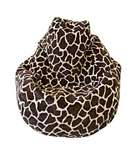 Gold Medal Large Tear Drop Giraffe Safari Micro-Fiber Suede Bean Bag