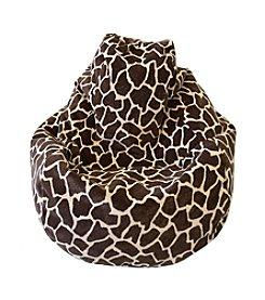 Gold Medal Large Tear Drop Giraffe Safari Micro-Fiber Suede Bean Bag