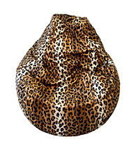 Gold Medal Large Tear Drop Cheetah Safari Micro-Fiber Suede Bean Bag