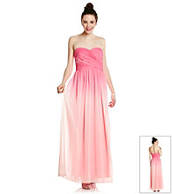 Morgan & Co.® Juniors' Ombre Strapless Gown