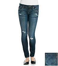 Vigoss© Destructed Rollcuff Tomboy Skinny Jeans