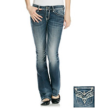 Vigoss© Bling Flap Back Bootcut Jeans