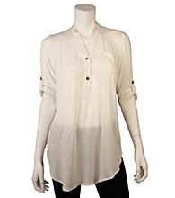A. Byer Juniors' Roll Sleeve Tunic