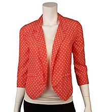 A. Byer Juniors' Polka Dot Open Jacket