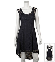 A. Byer Juniors' High-Low Lace Dress