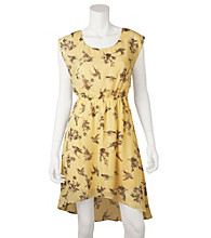 A. Byer Juniors' Bird Print Dress