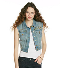 Chord Juniors' Studded Denim Vest