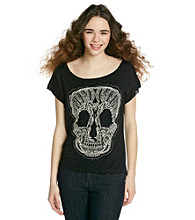 Love On Tap® Juniors' Crochet Skull Tee