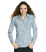 Fire® Juniors' Floral Denim Equipment Shirt