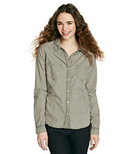 Fire® Juniors' Dot Casual Print Shirt