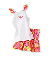 Carter's® Girls' 2T-4T White/Orange Toucan Print Skort Set