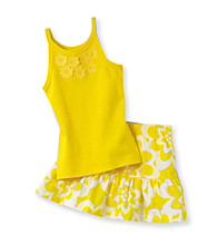 Carter's® Girls' 2T-4T Yellow Floral Print Skort Set