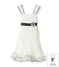 Amy Byer Girls' 7-16 White Flounce Dress