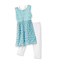 Beautees Girls' 7-16 Light Blue 2-pc. Broomstick Chiffon Set