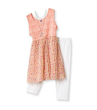Beautees Girls' 7-16 Orange 2-pc. Broomstick Chiffon Set