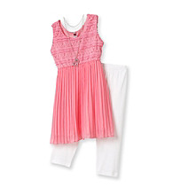 Beautees Girls' 7-16 Pink 2-pc. Broomstick Chiffon Set