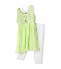 Beautees Girls' 7-16 Lime Green 2-pc. Broomstick Chiffon Set