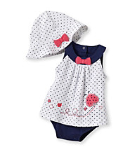 Little Me® Baby Girls' White/Navy Cute Lady Popover Set