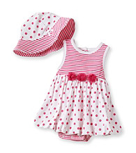 Little Me® Baby Girls' White/Pink Dotty Popover Set