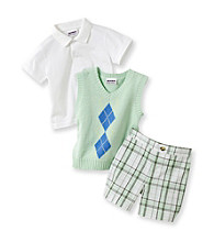 Heartworks Baby Boys' Green 3-pc. Sweater Vest Shorts Set