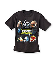 Angry Birds™ Boys' 4-7 Black Short Sleeve Quadwar Tee