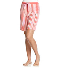 Jockey® Tangerine Knit Bermuda Shorts - Weaving Stripe