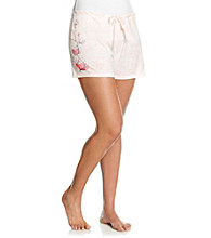 Jockey® Pink Knit Boxer Shorts - Weathered Seas Floral
