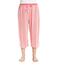 Jockey® Tangerine Plus Size Knit Capris - Weaving Stripe