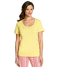 Jockey® Knit Contrast Trim Top - Yellow