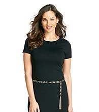 Nine West® Skinny Chain Belt - Black