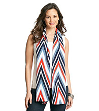 Basha V-Shaped Striped Neckwrap - Navy