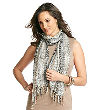 Collection 18 Silver Lining Bright Stripe Confetti Scarf