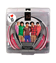 One Direction Pink Rhinestone Headphones