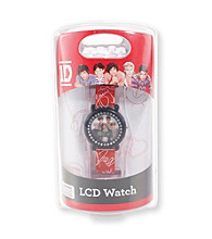 One Direction Red/Black Studded Signature Watch