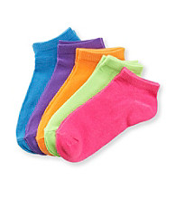 Miss Attitude Girls' Neon 5-pk. Shortie Socks