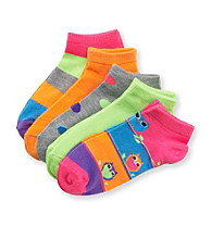 Miss Attitude Girls' Multi Print 5-pk. Shortie Socks