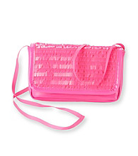 Miss Attitude Pink Sequin Wallet on a String