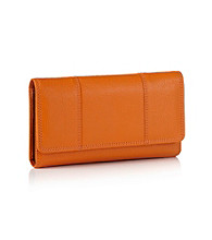 Relativity® Orange Zip Back Cell Phone Clutch