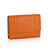 Relativity® Orange Midi Cell Phone Wallet