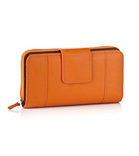 Relativity® Orange Tab Zip Around Wallet
