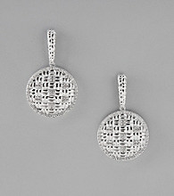 Sterling Silver Basketweave Earrings