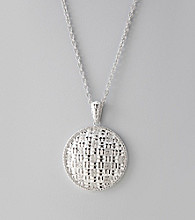Sterling Silver Basketweave Pendant Necklace