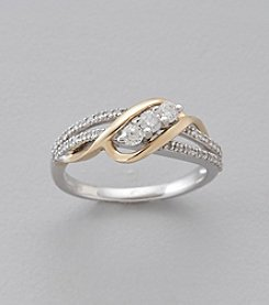 .33 ct. t.w. Diamond Ring in 10K White & Yellow Gold