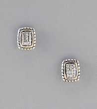 .16 ct. t.w. Diamond Earrings in Sterling Silver and 14K Gold